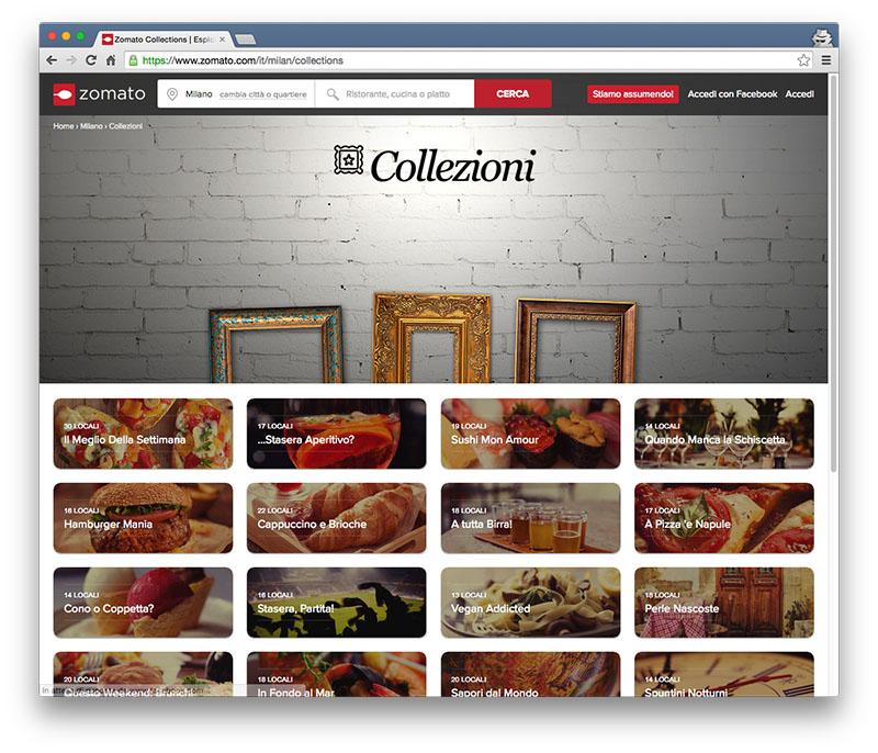 collezioni Milano Zomato