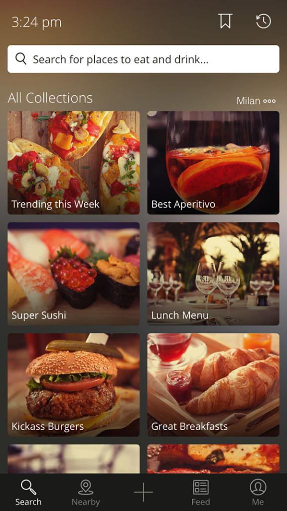 homepage iOS Zomato