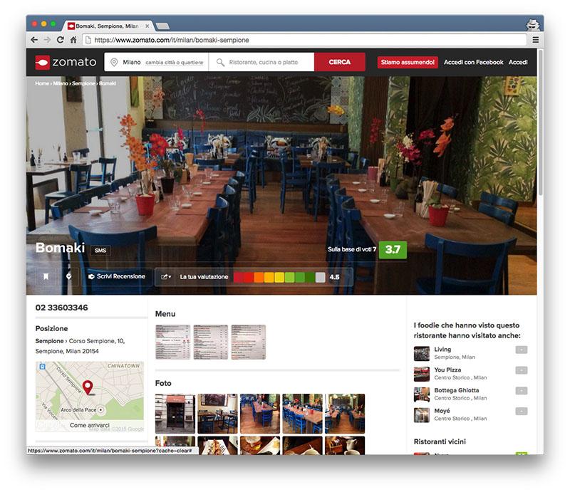 esempio profilo ristorante