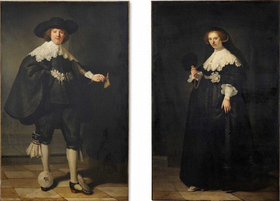 """""""Ritratto a pendant di Maerten Soolmans e Oopjen Coppit"""" - Rembrandt Van Rijn"""
