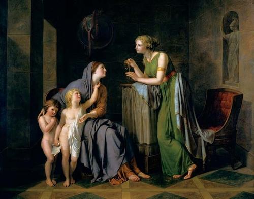 Cornelia, raffigurata nel celebre aneddoto che l'ha resa famosa
