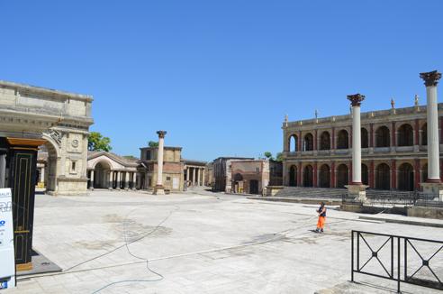 Vista set Roma antica a Cinecittà