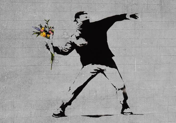 Bansky_Flower Brick-Thrower