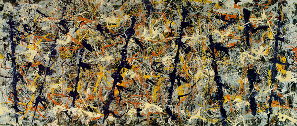 Jackson Pollock, Blue Poles number 11, 1952