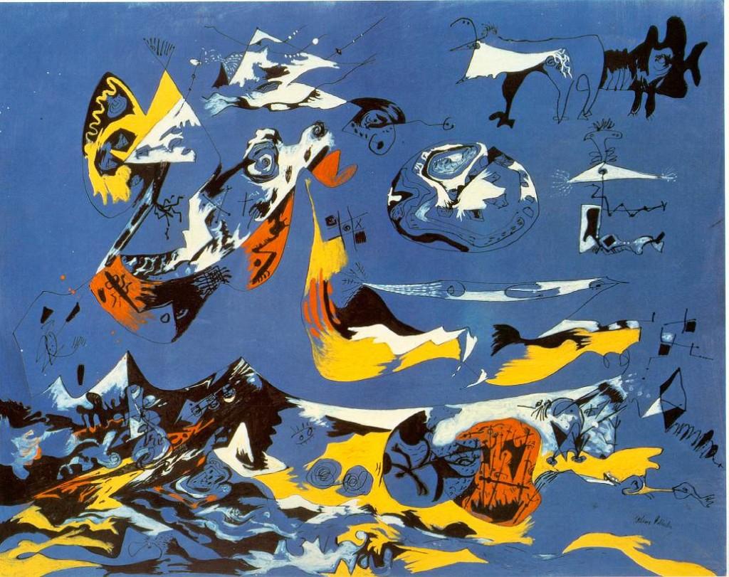 Jackson Pollock, Blue (Moby Dick), 1943