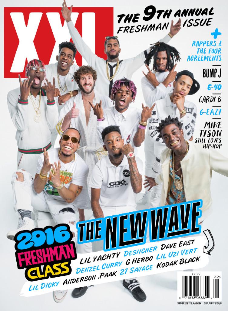 Alcuni dei maggiori esponenti della trap nella copertina del magazine USA XXL