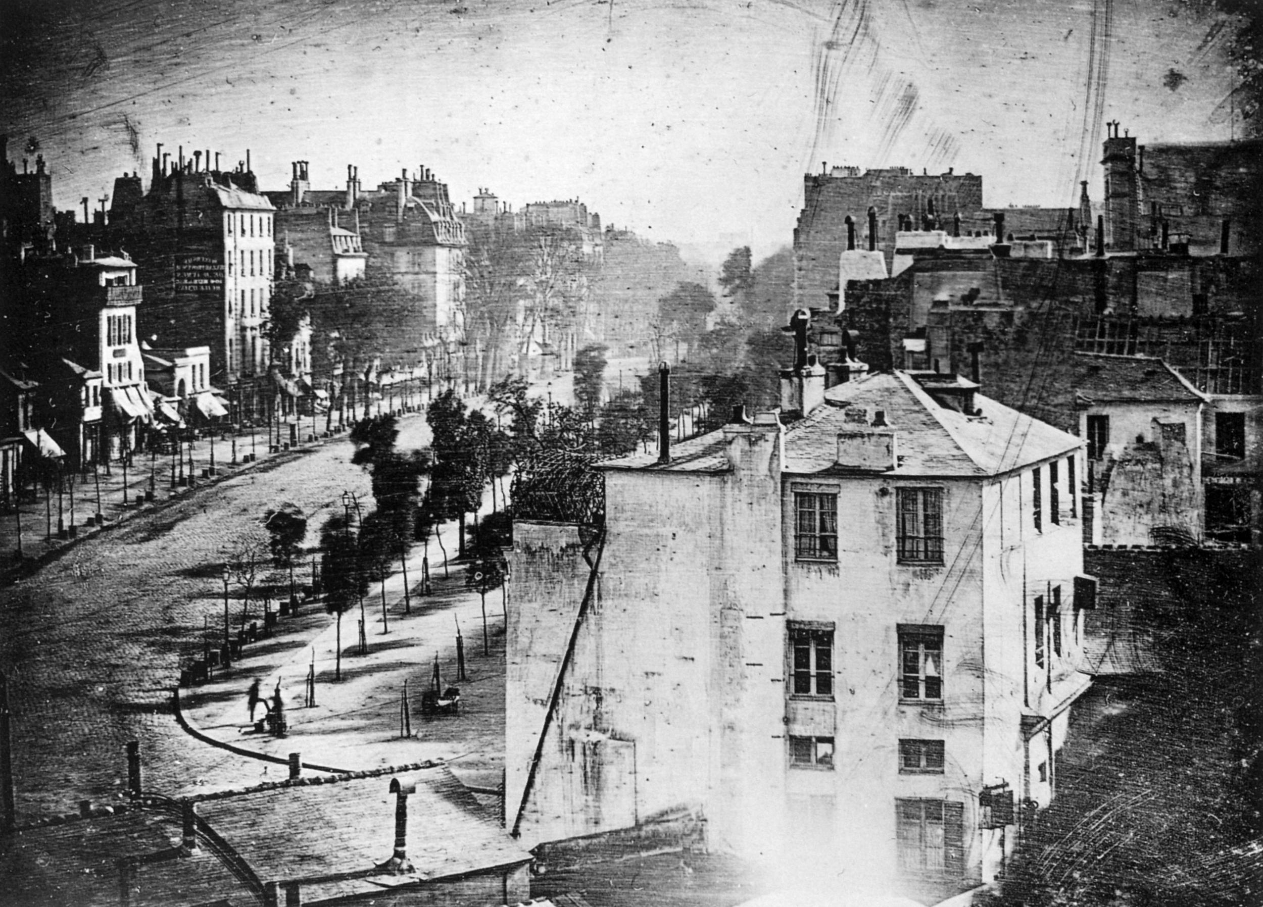 Boulevard du temple, Daguerre, 1838