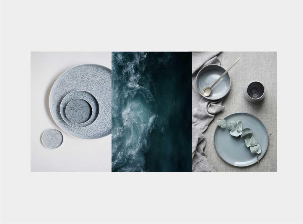 mise en place BLUE - collage Jacopo Di Criscio