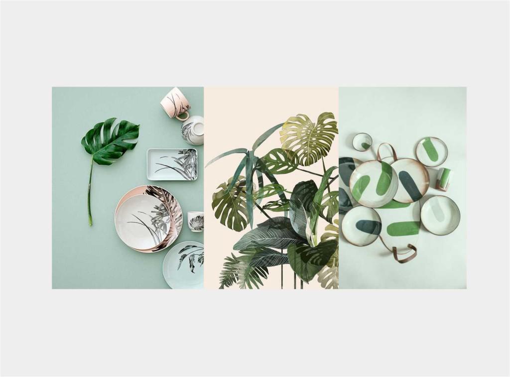 mise en place GREEN - collage Jacopo Di Criscio