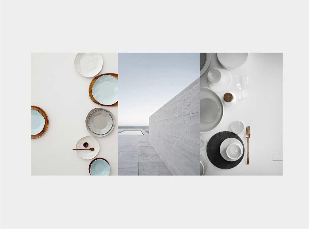 mise en place WHITE - collage Jacopo Di Criscio