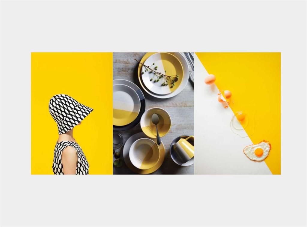 mise en place YELLOW - collage Jacopo Di Criscio