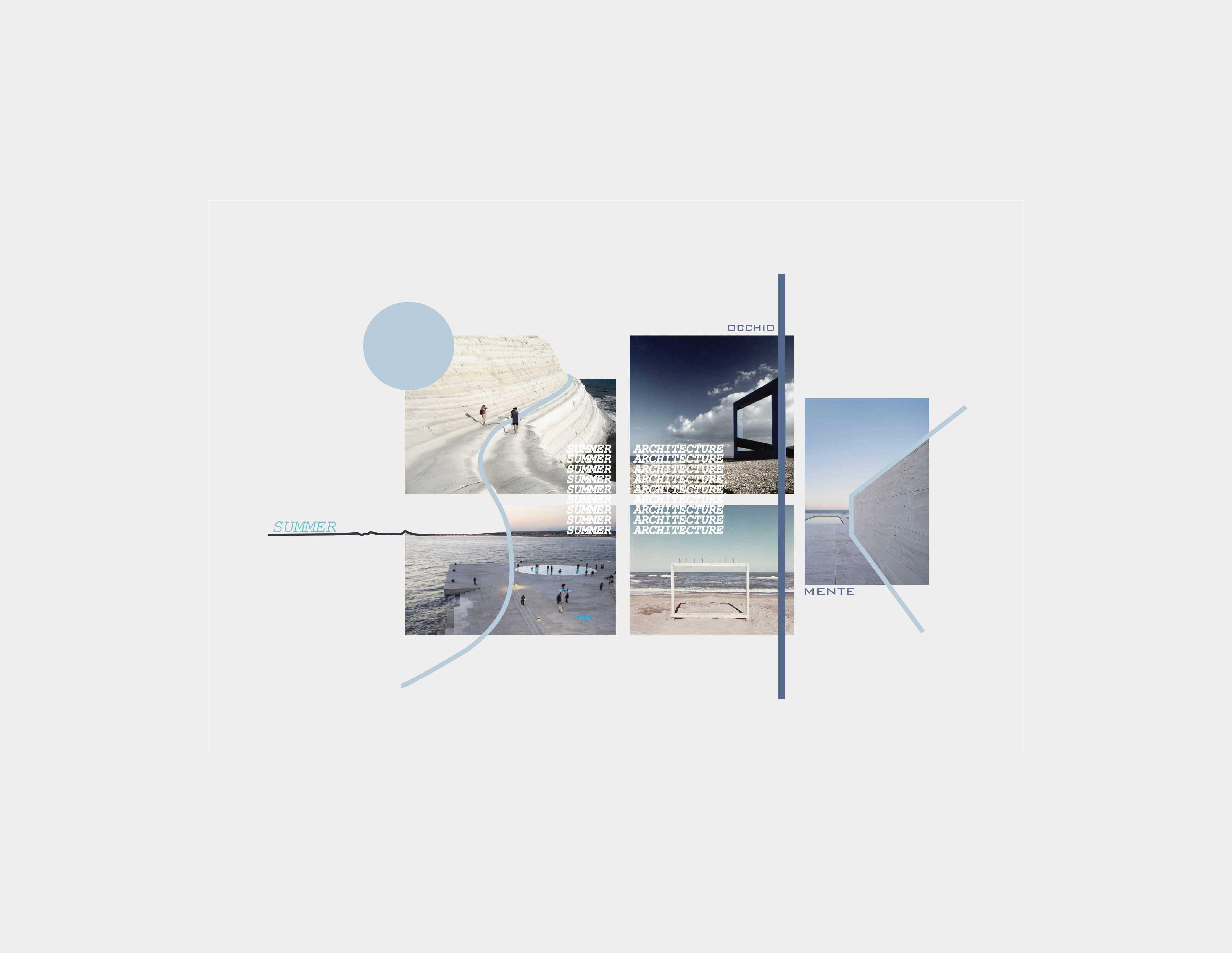Summer Architecture: estate e infinito – Moodboard