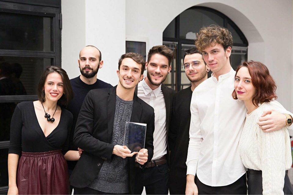 TWM Factory, da sinistra: Carlotta Belluzzi Mus, Mattia Mele, Nicola Brucoli, Davide Buellis, Carlo Settimio Battisti, Riccardo Ferranti, Silvia Brucoli.
