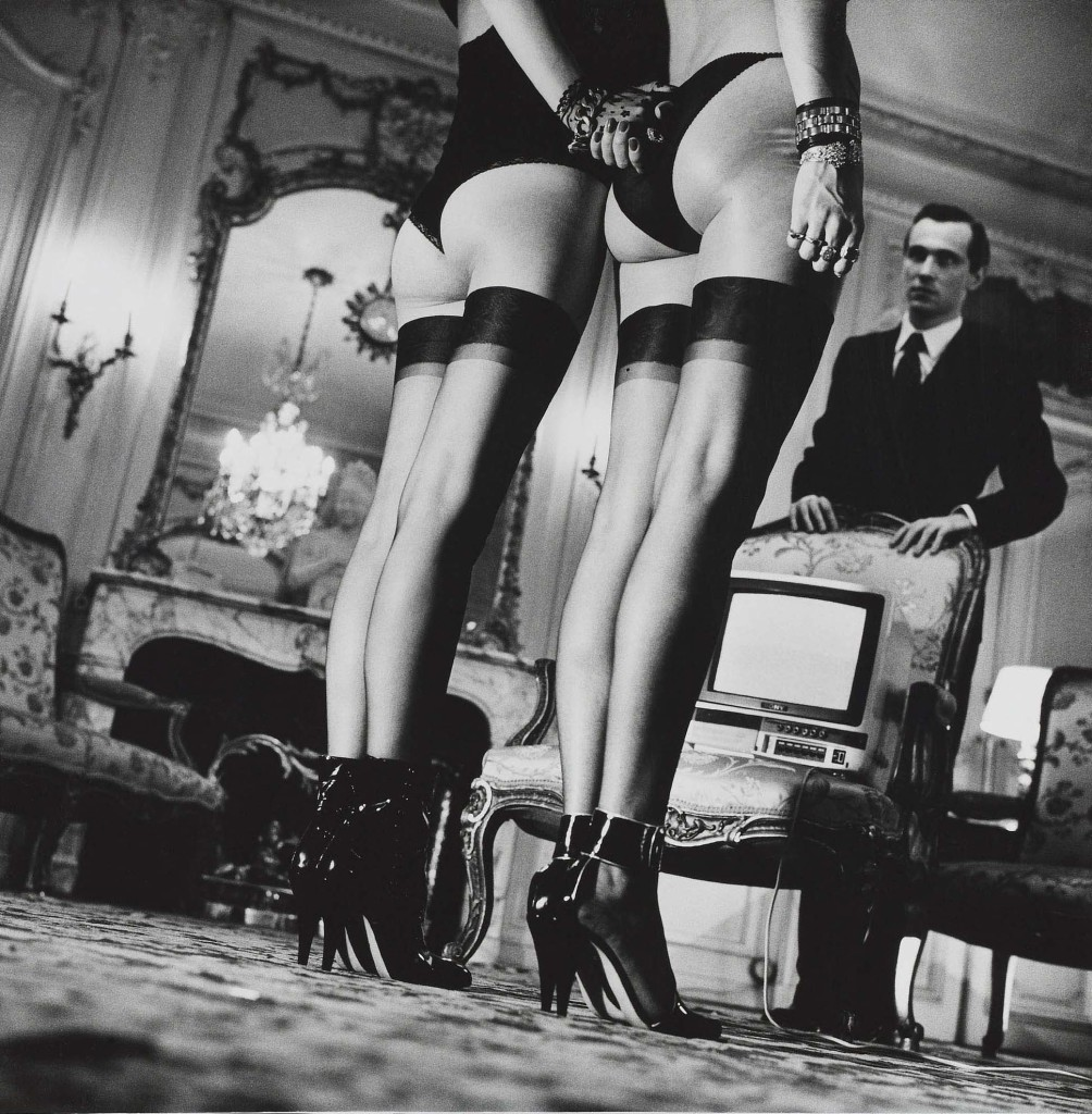 Two pairs of legs helmut newton