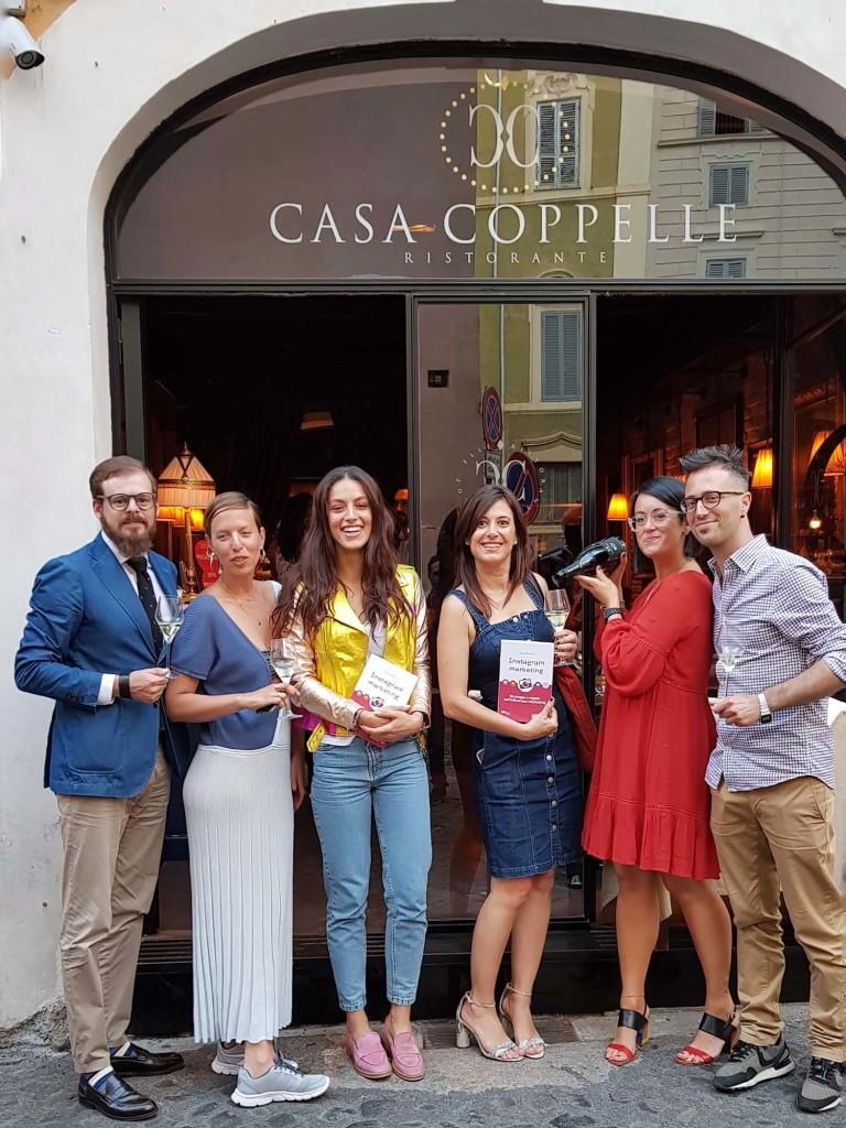 Da sx: Matteo Molle, Paola Buzzini, Desiree Popper, Erica Firpo, Ilaria Barbotti, Francesco Sarubbo a Casa Coppelle