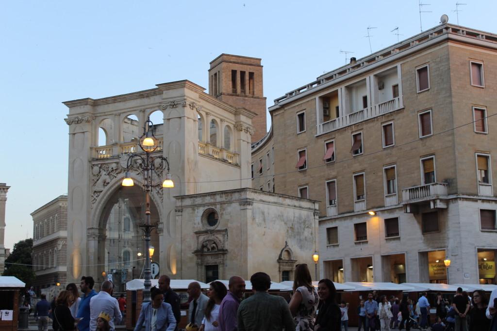 Piazza Sant'Oronzo. Foto dell'autrice