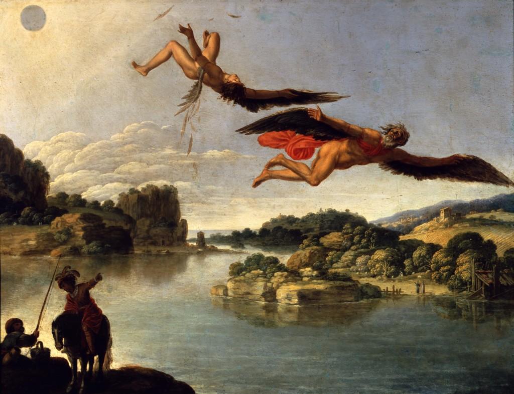 La caduta di Icaro - Carlo Saraceni | Ovidio. Amori, miti e altre storie