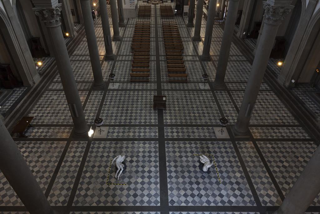 Fabio Viale, Souvenir Pietà, 2016, Basilica di San Lorenzo, Firenze, courtesy Fabio Viale