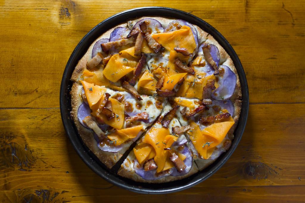 Miini pizza con zucca