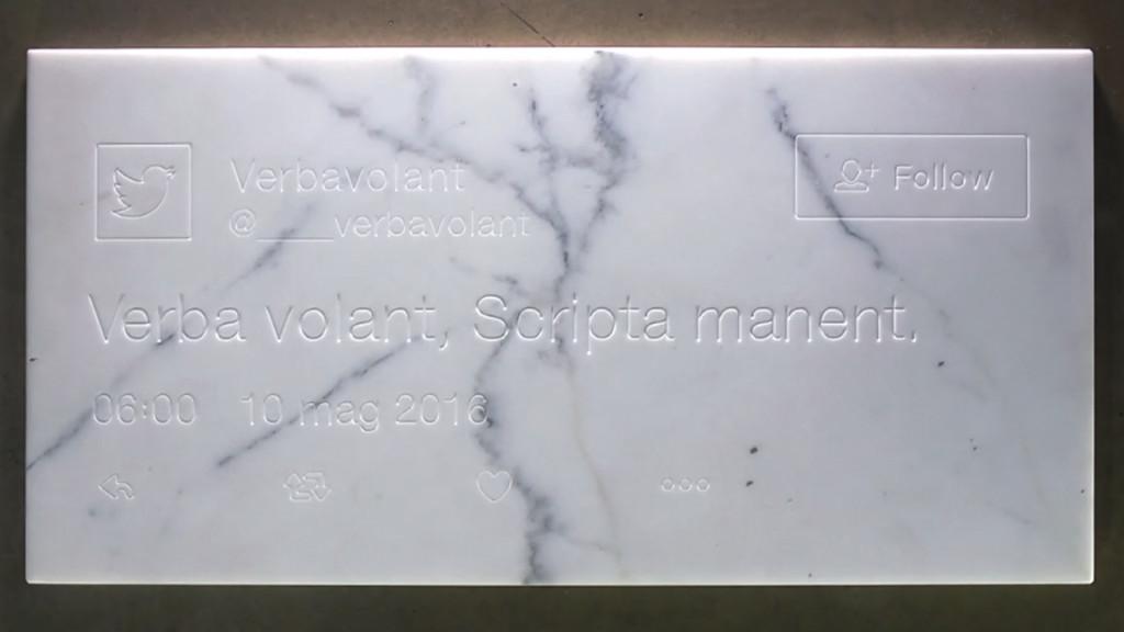 Verba volant, scripta manent (2017)