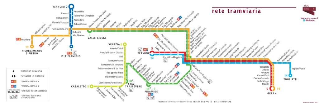 Mappa dei tram