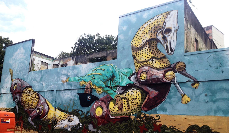 Street Art Meccanomorfa: Pixel Pancho