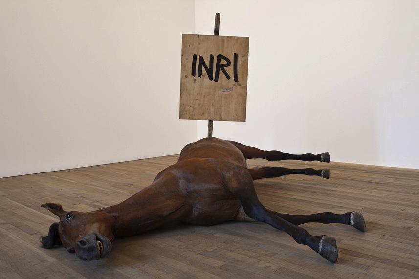 "Maurizio Cattelan – ""Untitled (I.N.R.I)"
