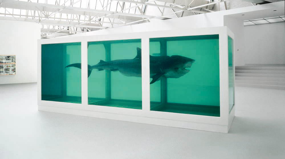 """Damien Hirst - """"The Physical Impossibility Of Death In the Mind Of Someone Living"""""""