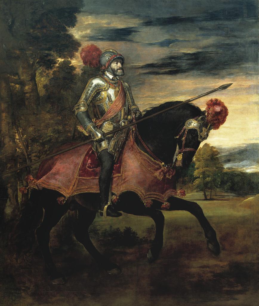 """Tiziano Vecellio – """"Ritratto equestre di Carlo V"""""""