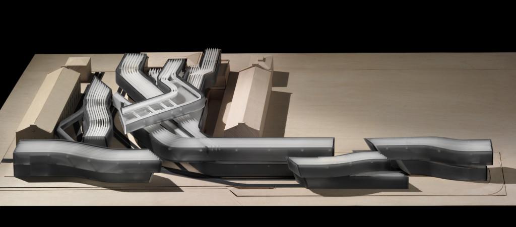 Proposta progettuale del Maxxi completa degli altri quattro edifici