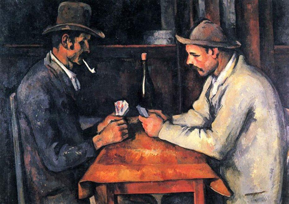 """""""I giocatori di carte"""" – Paul Cézanne"""