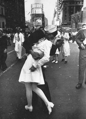 Bacio a Time Square