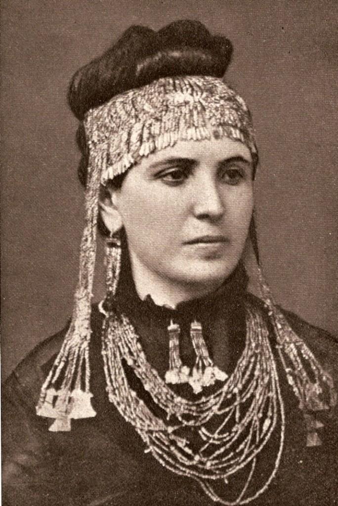 Sophia Schliemann con l'acconciatura di Elena di Troia