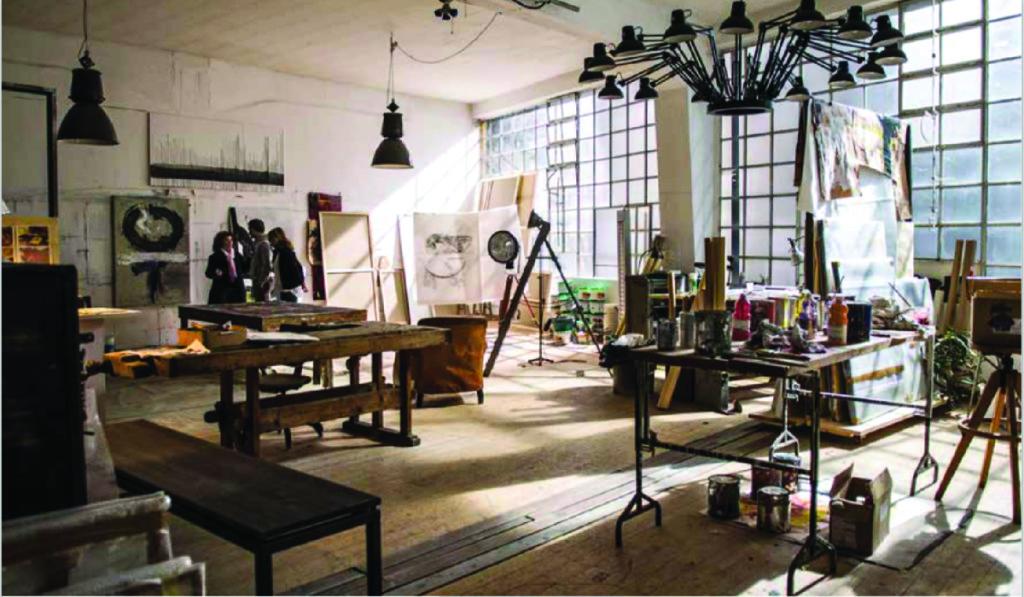 Dal film Third Person di P. Haggis. La scenografia per la creazione dello studio di un pittore.