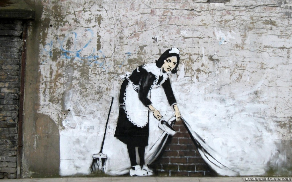 Banksy Cleaning Up