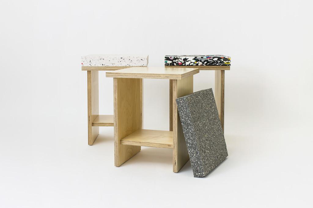 marbled stools - sedute