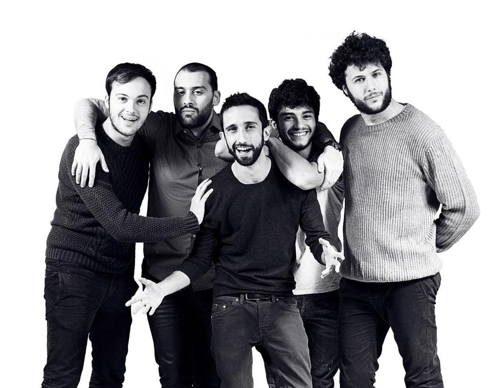 Da sinistra: Luca Cappelli, Federico Falasca, Alessandro Freschi, Andrea Pergola e Gianmarco Giosa