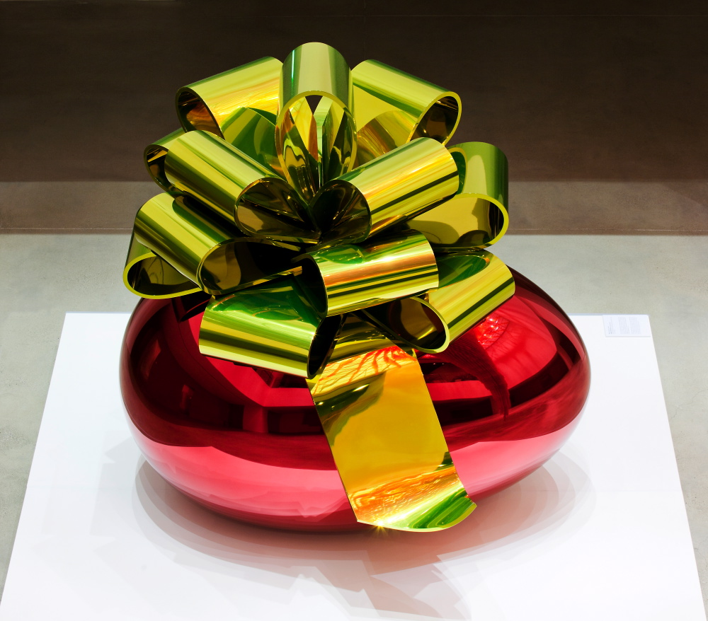 Jeff Koons - Smooth Egg with Bow