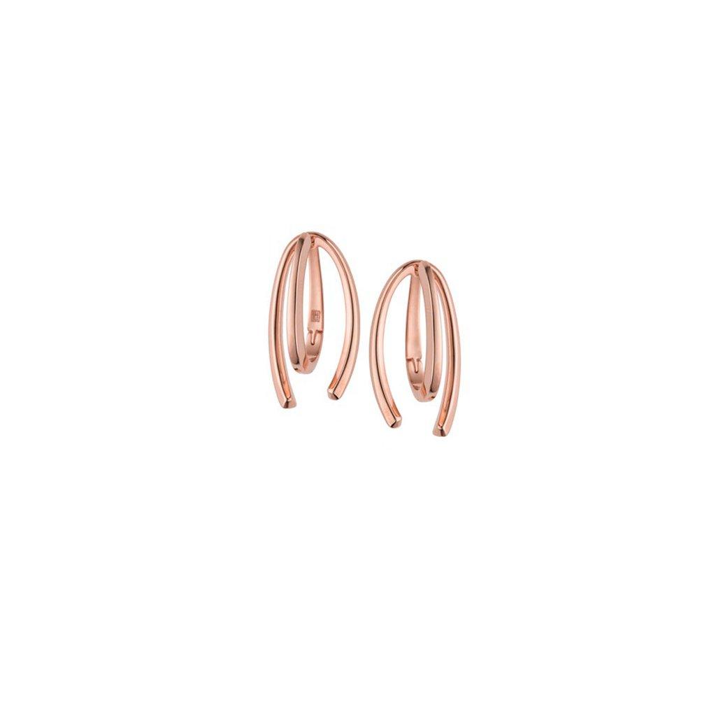 Honeysuckle Short Rose Gold Earrings