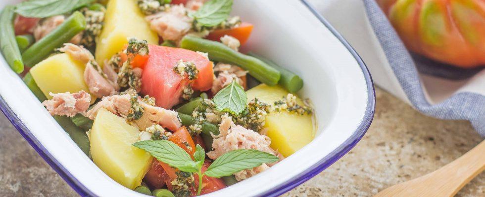insalata tonno, pomodori e fagiolini