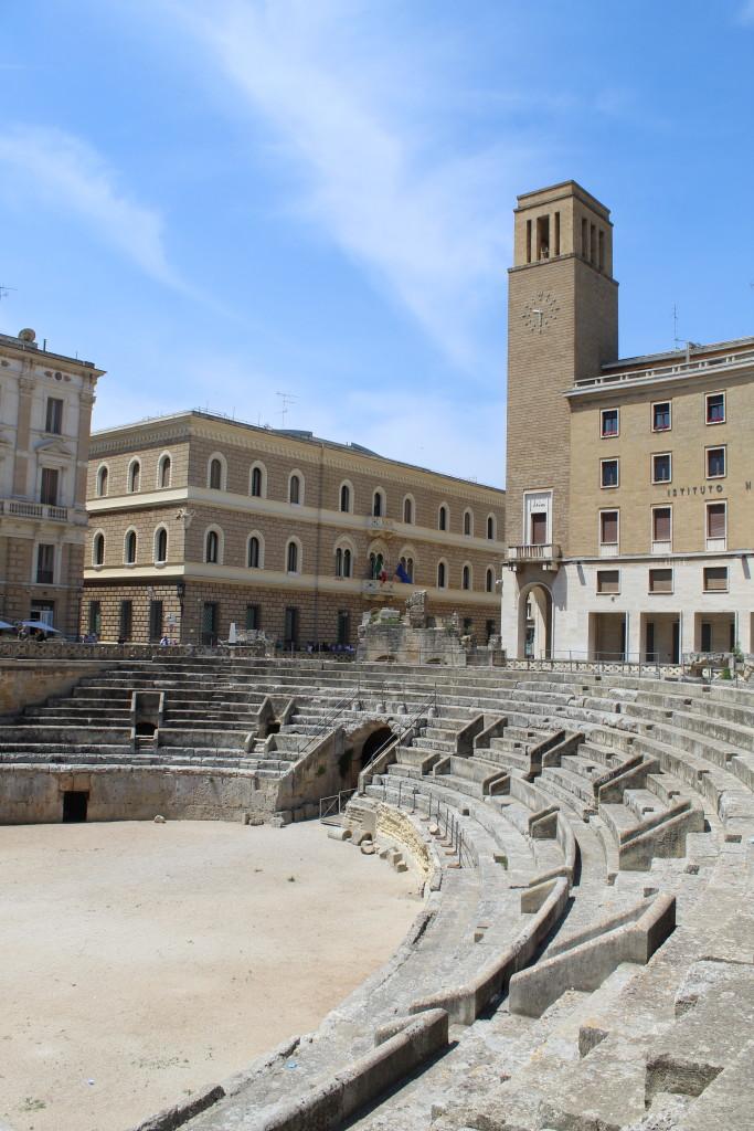 Anfiteatro in piazza Sant'Oronzo a Lecce. Foto dell'autrice