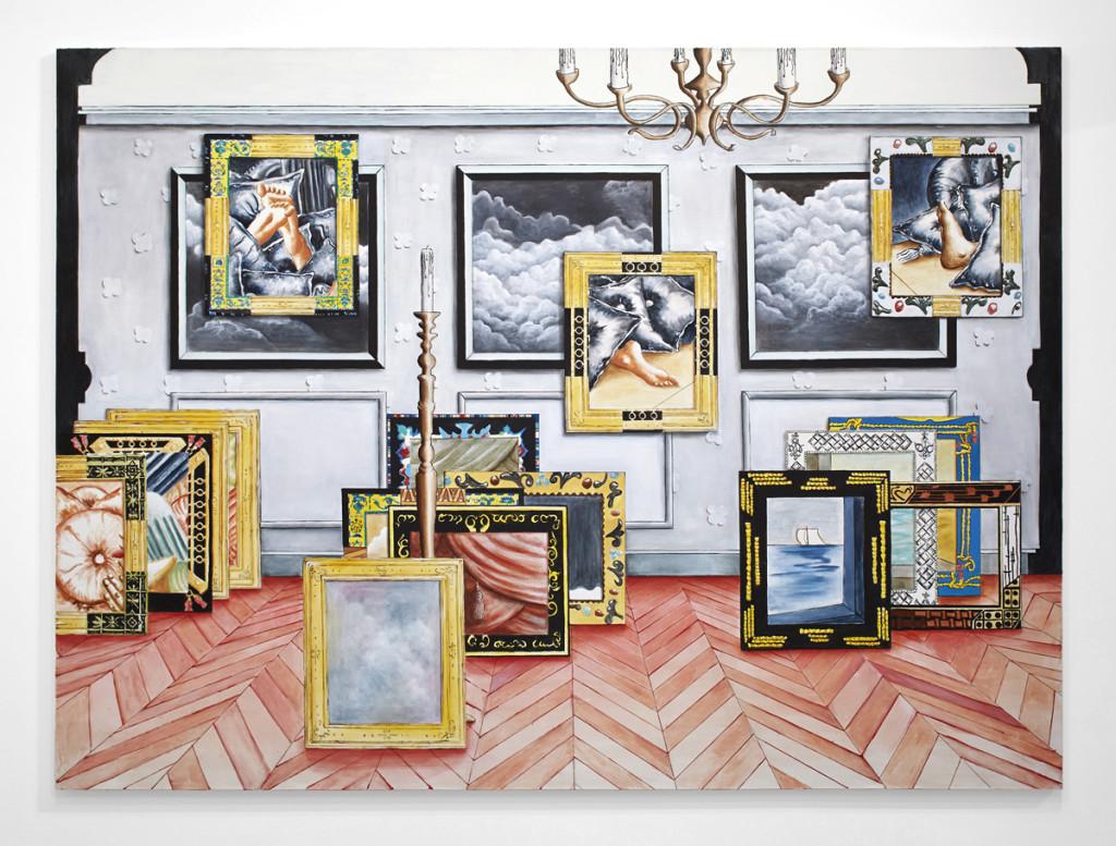 Patrizio Di Massimo, The Lustful Turk (Salon), 2013, olio su tela, 200 x 270 cm, courtesy T293 gallery