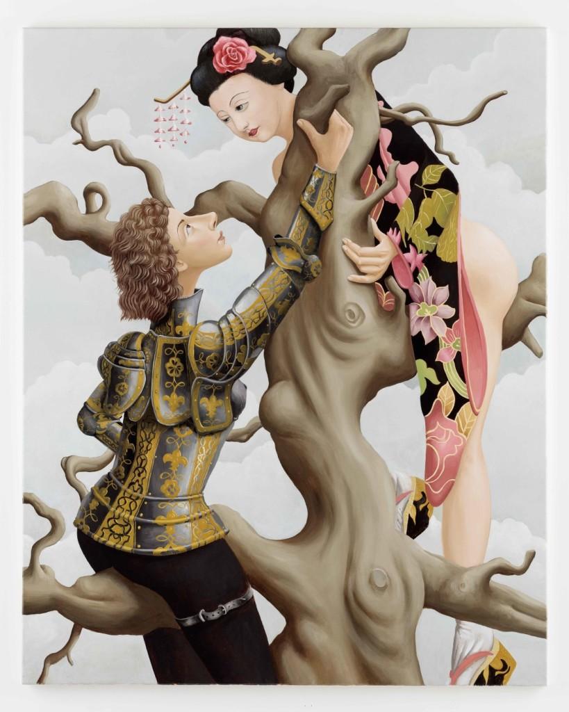 Patrizio Di Massimo, The Japanese tree, 2015, olio su tela, 150 x 120 cm, courtesy T293 gallery