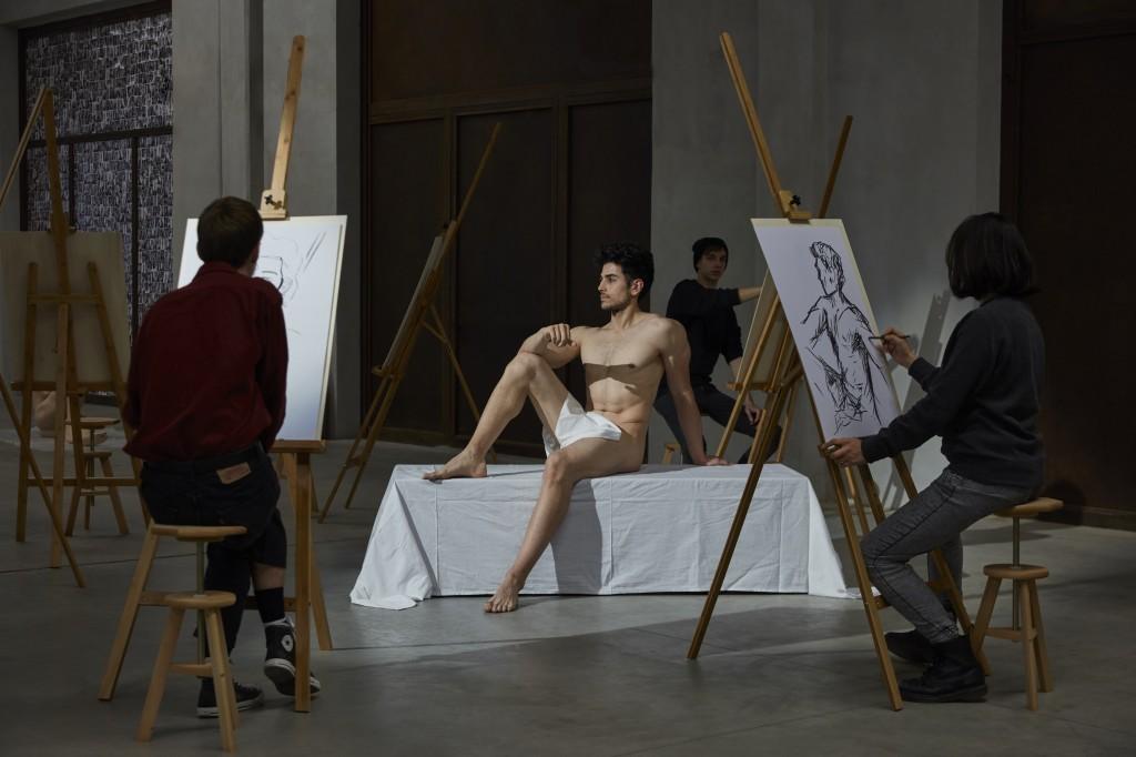 Patrizio Di Massimo, Self-Portrait as a Model  (Take Me, I am Yours), 2017, Courtesy Patrizio Di Massimo, T293, Rome and Pirelli HangarBicocca, Milan, Photo: Lorenzo Palmieri