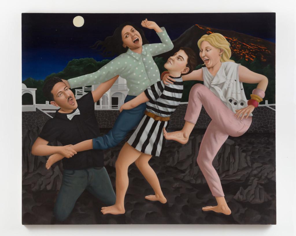 Patrizio Di Massimo, Give it back to me!!! You, moron!!!, 2018, olio su lino, 150 × 150 cm courtesy T293 gallery