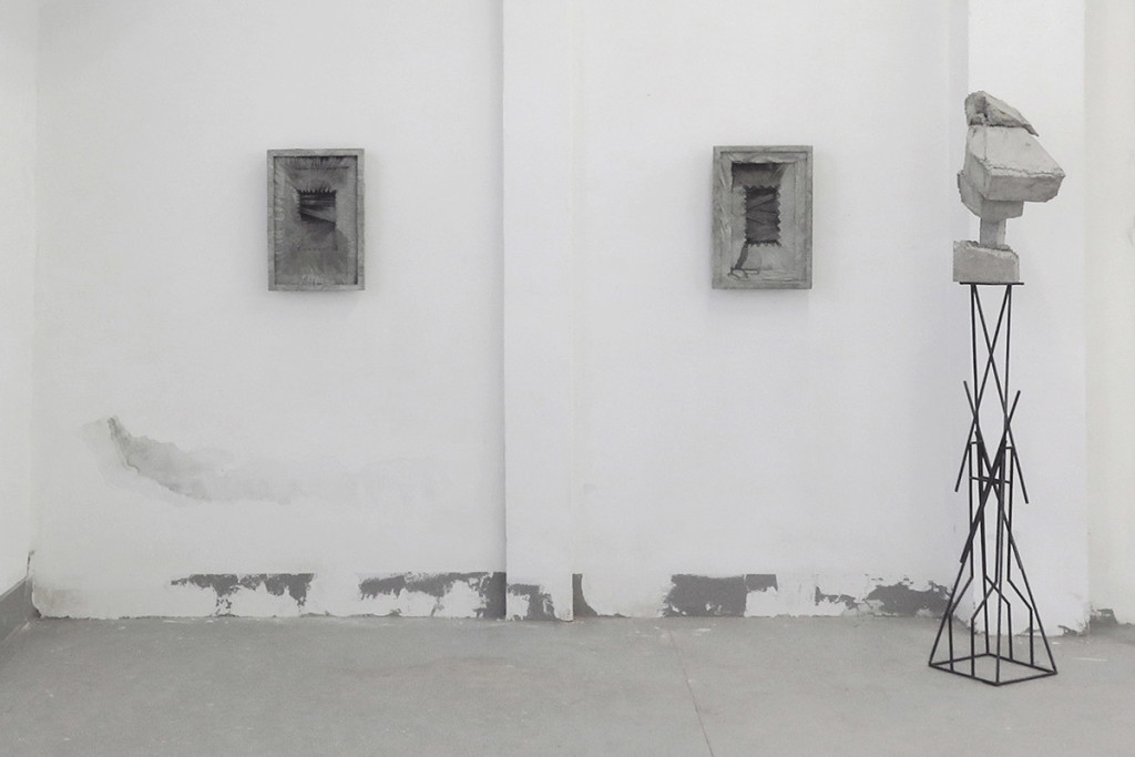 Luca Monterastelli, In the Movement of the Branches and in the Chewing of the Flesh # 2 - reinforced concrete - cm 100 x 60,5 x 5,5, 2015, solo show at Lia Rumma gallery project space at Fonderie Battaglia, Milano, Courtesy Lia Rumma gallery, 2015