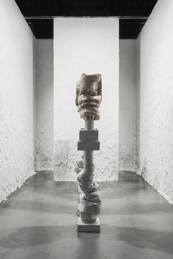 Luca Monterastelli, installation view @ Padiglione Italia, curated by V. Trione, 56th Biennale Arte, Venezia, reinforced plaster, 35 x 35 x 260 each, Courtesy Lia Rumma gallery, photo: Fulvio Ambrosio, 2015