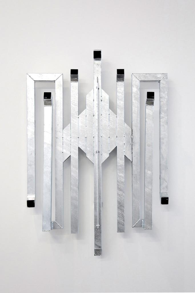 Luca Monterastelli, Hail To The Fucking Whatever, Again, zync-plated steel, cm 140x95x20, 2017 Ph Agostino Osio