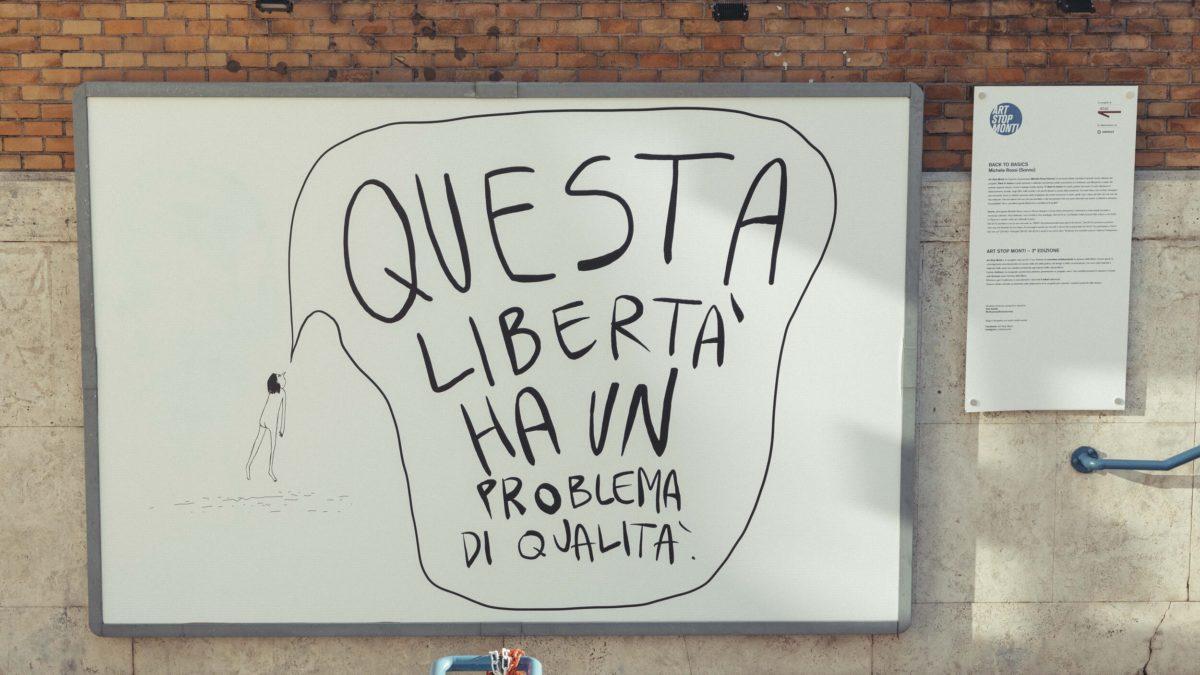 Back to basics – L'opera di SONNO per Art Stop Monti