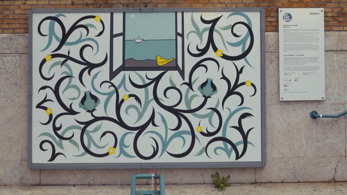 Fuori tutto scorre – L'opera di Mosa One per Art Stop Monti